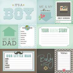 ESTE ES UN PRODUCTO DIGITAL. Descarga inmediata. BEBÉ recién nacido Niño diario tarjetas Se trata de un conjunto de 9 tarjetas imprimibles para todos los cuadros recién nacido lindos! (4 x tres 6 y seis de 3 x 4) Estas tarjetas de diario son ideales para scrapbooking tradicional y proyecto de vida. Foto diario es una gran manera de ayudar a preservar tus recuerdos preciosos. Incluye archivos en alta resolución (300dpi) 3 - 4 x 6 6 - 3 x 4 1 - 12 x 12 fondo de la palabra Recién nacido Los...