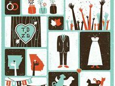 Dribbble - Wedding Invite Final 2 by Zach Graham