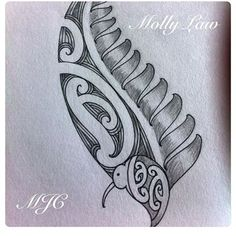Image result for silver fern drawing