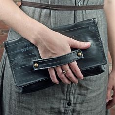 WANNNNT....  Bike Inner Tube Whitney Clutch by EvenOddCreative on Etsy, $90.00