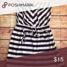 Mossimo Black and White Stripe Strapless Dress Mossimo Black and White Stripe Strapless Dress. Medium Gently used Mossimo Supply Co Dresses Strapless