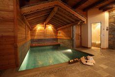 #dalle #spa #pierre #cosy Un dallage en pierre naturelle pour un effet nature et zen