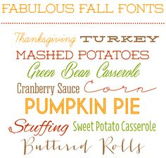 Fabulous Fall Fonts - full list and links to the font downloads | The Twinery
