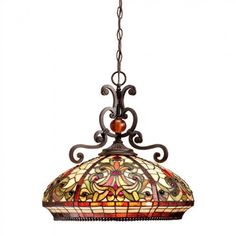 Dale Tiffany Ceiling Lights Antiques Roadshow  Boehme Series Hanging Tiffany Pendant Lamp - TH101034