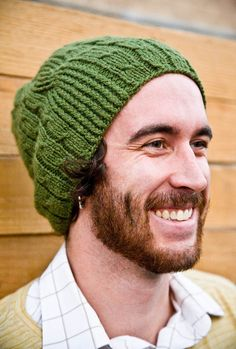 Men's Knit Hat Winter Wool in Olive Green  Bartek Hat by Woolibear