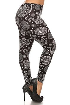 Capri Leggings for Women Elephants Paisley Black White MomMe And More – MomMe and Capri Leggings, Women's Leggings, Elephant Black And White, Black White, Leggings Depot, Thing 1, Plus Size Leggings, Printed Leggings, Leggings Fashion