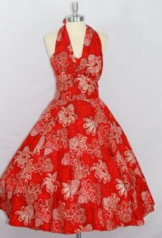aloha  vintage 1950s hawaiian dress