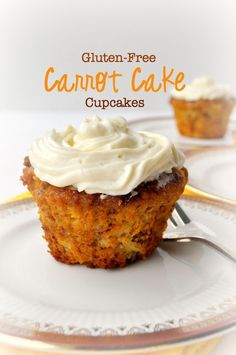 These paleo Gluten-Free Carrot Cake Cupcakes are dairy-free, refined sugar-free, moist, tender and sweet|www.flavourandsavour.com