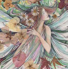 Flora Fee Blume Göttin Kunstdruck aus einer von ArtSoulCreations