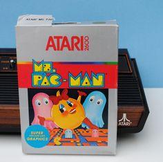 Ms. Pac-Man Atari 2600 Game Cartridge, Manual, and Original Box