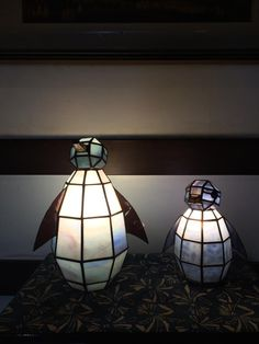 Penguin Tiffany lamps