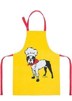 boston terrier - Boston Terrier Chef Apron by Marc Tetro