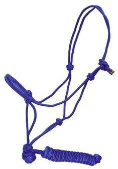 "Dark Green Showman™ horse size adjustable nylon cowboy knot halter with matching 5/8"" X 7' lead"