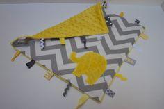 Personnalisé Chevron couverture teintes jaune gris par LilKingdom