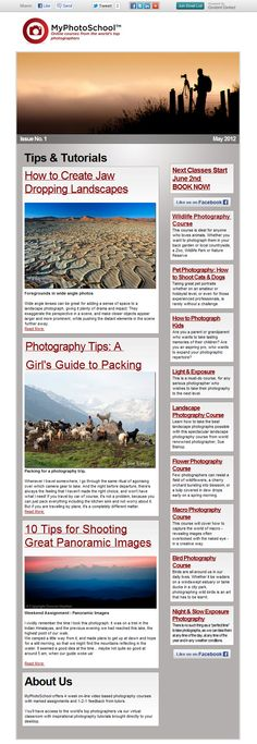 MyPhotoSchool News Letter | Photography Tips & Tutorials