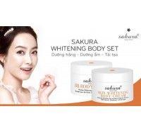 Bộ kem dưỡng trắng da toàn thân Sakura Body Whitening Cream