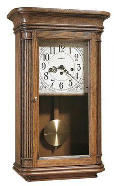 Wall Clock Oak, Pendulum Wall Clock, Mantle Clock, Chiming Wall Clocks, Howard Miller Wall Clock, Traditional Wall Clocks, How To Make Wall Clock, Antique Clocks, Wood Colors