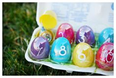 EasterEggCountdown. Fill each egg with candy treats or kind notes and let the countdown begin.