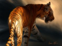 Torch Tiger 2 by Aaron Blaise Represented by Travis Foster