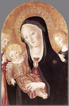 Page of Madonna and Child with Two Angels by FRANCESCO DI GIORGIO MARTINI in the Web Gallery of Art, a searchable image collection and database of European painting, sculpture and architecture Lady Madonna, Madonna And Child, Medieval Paintings, European Paintings, Italian Renaissance, Renaissance Art, Renaissance Humanism, Statues, Web Gallery