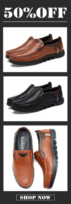 f6ea9a258cb 50%OFF Free shipping. US Size 6.5-12 Casual Soft Slip On Leather Flat