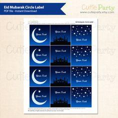 Eid Mubarak Editable Party Printable Starry Night Eid Party