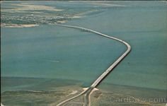 The Aerial View Of The New Queen Isabella Causeway Texas Original Vintage Postcard for Like the The Aerial View Of The New Queen Isabella Causeway Texas Original Vintage Postcard? Queen Isabella, South Padre Island, Flat Earth, The Old Days, Aerial View, Old Things, Texas, The Originals, Bridges