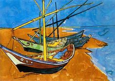 Van Gogh, Boats at Saintes Maries