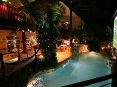 Philadelphia Estate Rental: Hawaii Indoors!swim-up Tiki-bar 20' Palms,5 Waterfalls,2 Theaters,spa | HomeAway