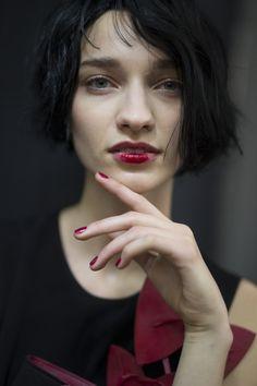 Emporio #Armani highlights in #makeup Beauty highlights: Milan Fashion Week