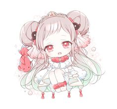Queen Anime, Anime Princess, Cute Anime Chibi, Kawaii Chibi, Manga Anime Girl, Kawaii Anime Girl, Anime Angel, Anime Demon, Kawaii Drawings