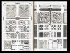 La théorie et la pratique du jardinage - Dezallier d'Argenville, 1709. Parter ogrodowy z kunsztownymi ornamentami wykonanymi ze strzyżonych roślin, kolorowego piasku i żwiru. Przedstawiały zazwyczaj formy roślinne i geometryczne. W miarę rozwoju stylu powstawały różne rodzaje parterów np. haftowy, gazonowy, wodny.