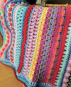 Multi-stitch Striped Blanket
