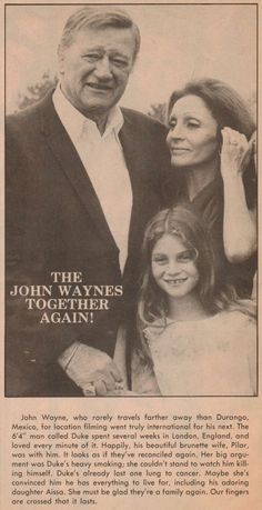 John and Pilar Wayne / Together Again page one of two