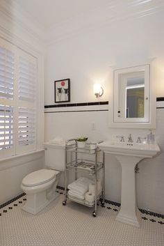 Black And White Hexagonal Tile Border Design, Pictures, Remodel, Decor and Ideas - page 5