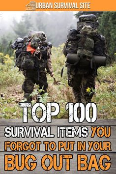 Top 100 Survival Items You FORGOT to Put in Your Bug Out Bag The purpose of this bug out bag list is to remind you of any survival items that you would have put in your bag, if only you had thought of them. Survival Life Hacks, Survival Items, Survival Supplies, Urban Survival, Homestead Survival, Wilderness Survival, Camping Survival, Survival Prepping, Emergency Preparedness
