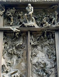 Details from The Gates of Hell by Rodin. Bronze doors originally commissioned for a new museum in Paris which never opened. Rodin worked on the 200\u2026 & Details from The Gates of Hell by Rodin. Bronze doors originally ...