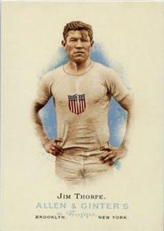 Jim Thorpe 1912 Olympian.  Battle over his memorabilia.