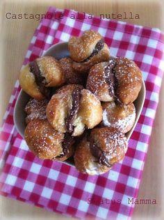 Castagnole alla nutella ricetta fritat dolce Carnevale Statusmamma cucinare foto blog tutorial Giallozafferano blogGz Nutella bambini veloce...