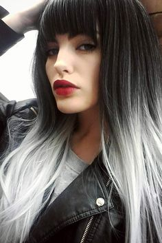 Grey Ombre Hair Ideas To Rock This Year ☆ See More:  Http://lovehairstyles.com/grey Ombre Hair Ideas/
