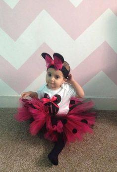 Aishah 1st Birthday Hot Pink Tutu Outfit LR Designs Tutu Boutique February 2015