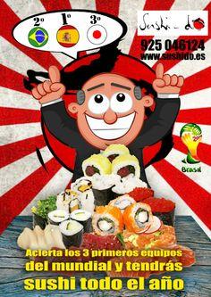 Concurso de Sushi do estos están locos, locos