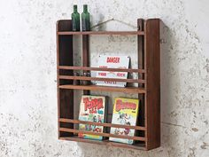 Vintage Wall Shelf - a gorgeous vintage yet modern wooden shelf for any room in your home. Our range of vintage furniture will bring charm and delight into your home, as well as practical organisation. Vintage Bedroom Furniture, Hallway Furniture, Bedroom Vintage, Furniture Sale, Vintage Walls, Indian Furniture, Office Furniture, Wooden Clock, Wooden Shelves