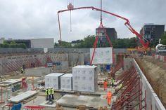 Capella update 5 – 250m³ of concrete into the retaining walls