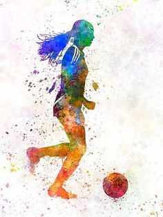 'Girl playing soccer football player silhouette' Poster by p.-'Girl playing soccer football player silhouette' Poster by paulrommer Girl playing soccer football player silhouette Soccer Pro, Soccer Cleats, Football Players, Soccer Ball, Soccer Drills, Soccer Sports, Youth Soccer, Play Soccer, Nike Soccer