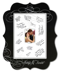 """Unik Occasions - Lillian Rose Chalkboard Signing Frame This chalkboard signing frame makes a wonderful keepsake of the wedding, guests and their special wishes for the new couple. Frame can be written on with chalk or chalk ink pen. It measures 17.75"""" x 22"""" and allows the couple to remember those who shared in their special day. Chalk ink pen wouldn't smudge like regular chalk. Price $39.95"""