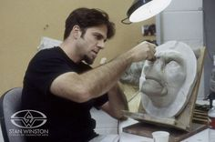 Creature creator Rob Ramsdell sculpts a Morlock character prosthetic makeup for THE TIME MACHINE.