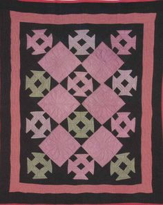 Hole in the Barn Door Crib Quilt, 1910. Amish. LaGrange Co, Indiana.