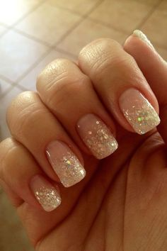 Most current Free of Charge Nail Art Glitter fade Style With clothes, locks alon. - Most current Free of Charge Nail Art Glitter fade Style With clothes, locks along with shoes or boo - Glitter French Nails, French Tip Acrylic Nails, Sparkle Nails, Glitter Nail Art, Glitter Fade Nails, Nail French, Pink Manicure, Nude Nails, Pink Nails
