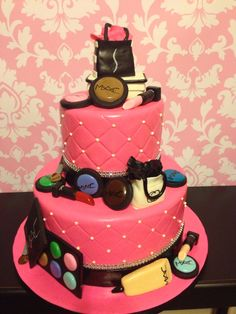 MAC Cosmetics cake! By Kristi's Cakery.